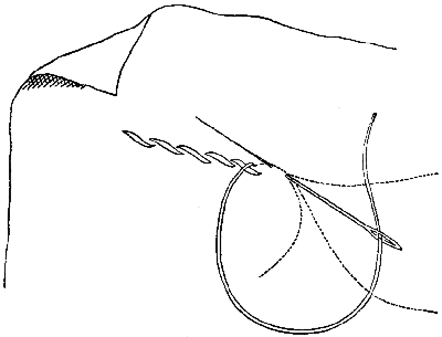 Method of working stem stitch