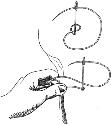 Method of working knotted stitch