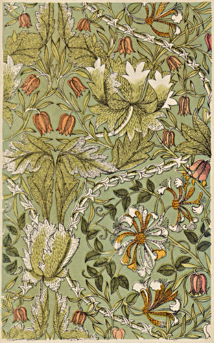 Detailed floral and foliage design